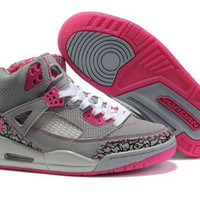 jordan 3.5 spizike women shoes grey and pink cheap sale