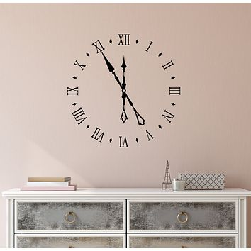 Vinyl Wall Decal Antique Watch Dial Room Decor Stickers (3999ig)