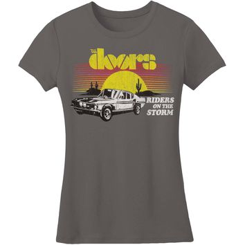 Doors  Riders on the Storm Boyfriend Tee Junior Top Charcoal