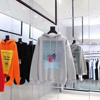 Balenciaga poster style Double Portrait Hoodie 001