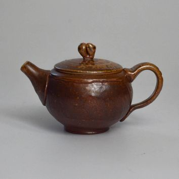 Woodfired Stoneware with Salt Glaze Teapot 100mL by Jonathan Stee