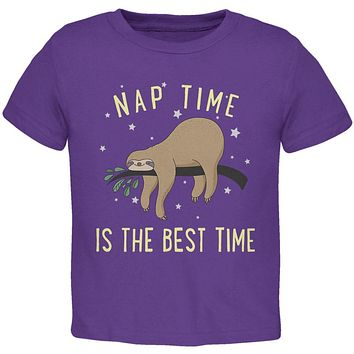 Sloth Nap Time Is The Best Toddler T Shirt