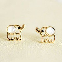 Opal Elephant Stud Earrings from SHOPHERE