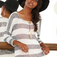 Sparkle Stripe Long-Sleeve Tee