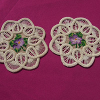 Pair of lovely handmade doilies
