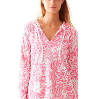 Lilly Pulitzer Megan V-Neck Tunic Hoodie