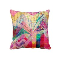 Abstract with Bold Colors Pillow from Zazzle.com