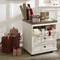 Whitney Wrapping Paper Cart