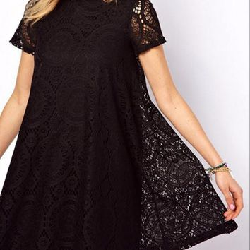 Western Style Lace Mini Dress
