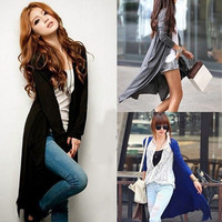 Womens Casual Long Sleeve Cardigan Knit Knitwear Sweater Coat Long Wraps Outwear = 1958413828