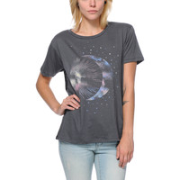 Cea+Jae Celestial Charcoal Mesh Back Tee Shirt at Zumiez : PDP