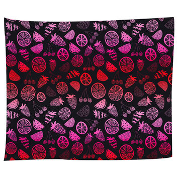 Pink Fruit Tapestry