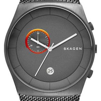 Skagen 'Havene' Chronograph Mesh Strap Watch, 42mm