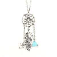 With Love From CA Dreamcatcher Cluster Necklace at PacSun.com