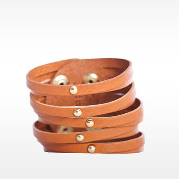Sliced Dome Stud Bracelet
