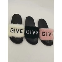 Givenchy Sandals In Shearling