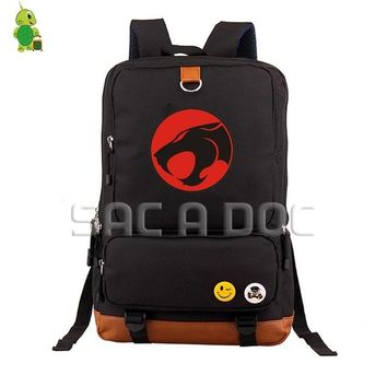 Anime Backpack School kawaii cute Thundercats Lion-O Canvas School Bag Women Men Travel Bags for Teenagers Students Large Capacity Laptop Backpack AT_60_4