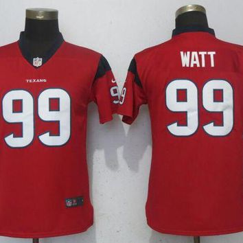 Women Nike Men's Houston Texans 99 Watt Red 2017 Vapor Untouchable Elite Player