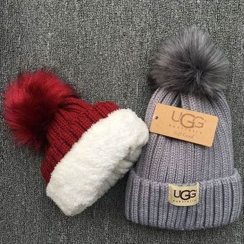 DCCKNQ2 UGG Knit And Pom Hat Cap2
