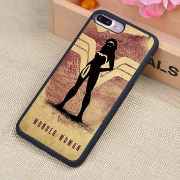 Wonder Woman Minimalist Poster Printed Soft TPU Skin Phone Case For iPhone 6 6S Plus 7 7 Plus 5 5S 5C SE 4 4S Cases Back Cover