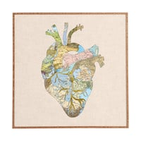 Bianca Green A Travelers Heart Framed Wall Art