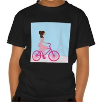 Biking in Paris Tshirts