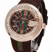 GUCCI tide brand fashion men and women fashionable quartz watch F