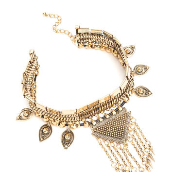Chic Spell Metallic Statement Choker