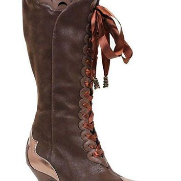 "Ellie Shoes E-253-STELLA 2.5"" Knee High Boot with Zipper"