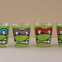 Teenage Mutant Ninja Turtle-Faces-Shooter Set of 4- 1.5""