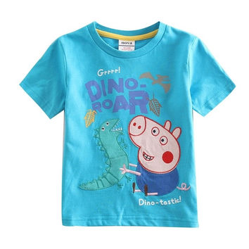 Retail Navy and Blue C4032 Nova 18m/6y baby boy t shirts 100% cotton peppa pig clothing summer t-shirt one piece retail for boy = 1930312900