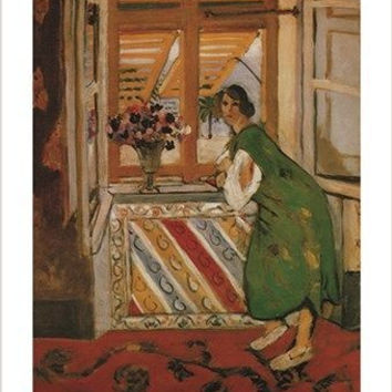 1921 HENRI MATISSE young girl in a gandoura VINTAGE FRENCH art poster 24X36