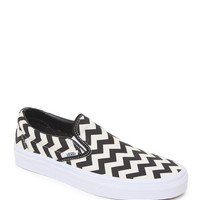 Vans Chevron Slip-On Shoes - Womens Shoes - Black