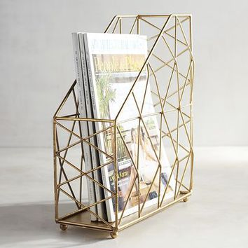 Caitlin Gold Magazine Holder