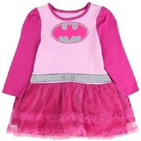 Baby Girl Pink BATGIRL Sparkly Tutu Dresses With Cape, Toddler Bat-Girl Costume
