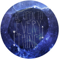 Sara Eshak's Be Open To Everything Circle Decal