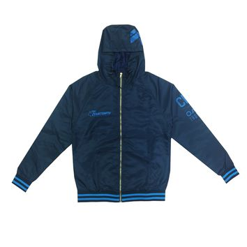 NAVY AND ICE NYLON JACKET