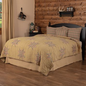 Rustic Star King Quilt Set