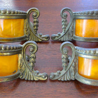 Antique Art Deco Celluloid Drawer Pulls