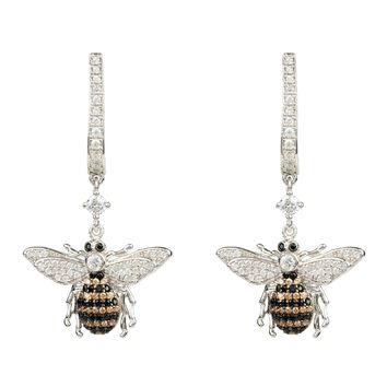 Honey Bee Drop Earring Silver