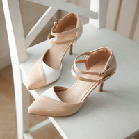 Sales  Summer New Sexy Women Nude Sandals Blue Pink Apricot Red High Heel Ladies Formal Shoes AM7-5 Plus Big Size 30 48