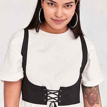 Silence + Noise Cassidy Cropped Corset Vest - Urban Outfitters