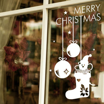 Christmas Pendant Decoration Wall Sticker Glass Stickers [4923116484]