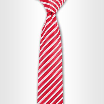 Racecar Red Striped Tie