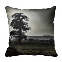 Silhouette of a Tree Pillow