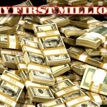 My First Million Stacks Of Cash poster Metal Sign Wall Art 8in x 12in