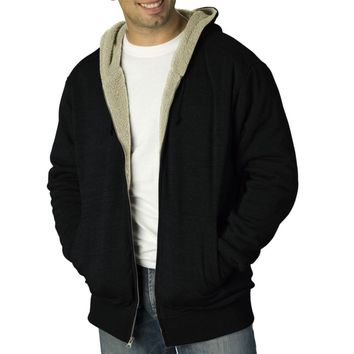 Mens Sherpa Lined Zip Hoodie from Zazzle.com