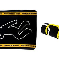 Crime Scene Fleece Throw