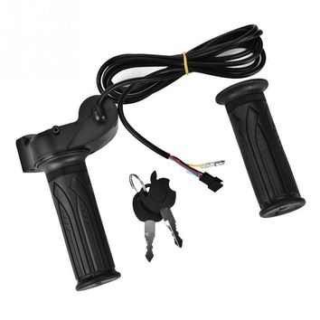 Waterproof E-Bike Electric Twist Throttle with LED Display Electric Scooter Handlebar Throttle Grips Bicycle Accessories