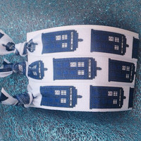 Doctor Who Fold Over Elastic Hair Ties